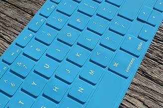 clavier sans fil bleu
