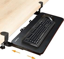Plateau de clavier et souris à pince
