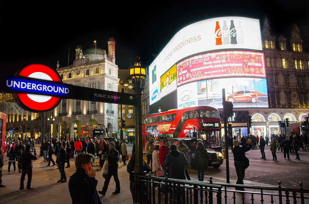 piccadilly circus londres harry potter